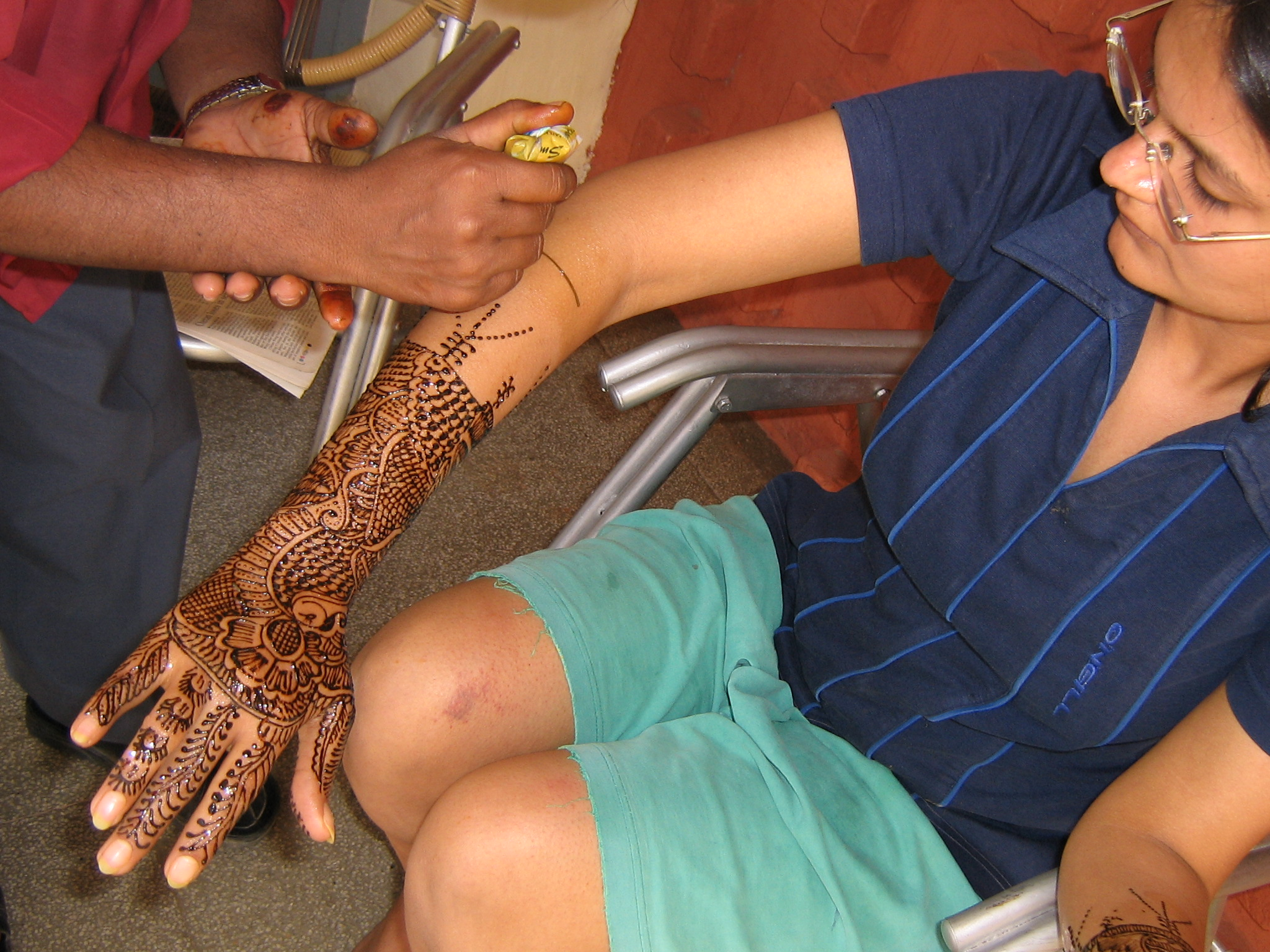The Mehndi or Tatiooing