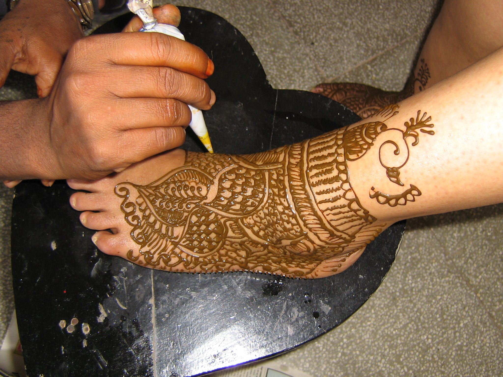 Mehndi on Foot